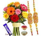 Flora Online Rakhi Mix Sensation Rakhi With Flowers