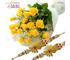 Flora Online Yellow Roses With Rakhi Rakhi With Flowers
