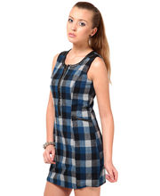 WESTERN WEAR SLEEVELES TWEED DRESSROUND NECKCASUAL REGULAR FIT AND TWEED FABRIC DRF2213, m, s