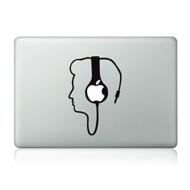 Clublaptop Plugged Into Music MacBook Mac Sticker Skin Decal Vinyl for 11.6  13  15  17