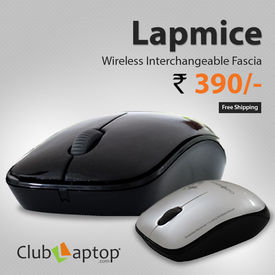 Clublaptop 2.4 GHz Wireless Mouse for Laptop & PC (Two Skin Options) - Lapmice