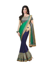 Panchi Embroidered Georgette Saree, multicolor