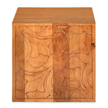 Vesta Cube Stool - @home by Nilkamal, Natural