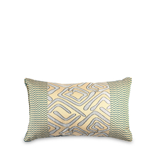 Geo 30 cm x 45 cm Filled Cushion - @home by Nilkamal, Sea Green