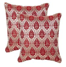 12'x12' Glory Set Of 2 Cushion Covers - @home Nilkamal,  red