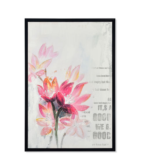 Floret Spring Picture Painting 60 x 90 - @home By Nilkamal, Brown & Fuschia