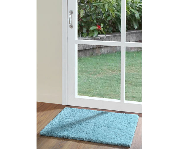 50 x80  Exotica Bathmat - @home By Nilkamal, Aqua