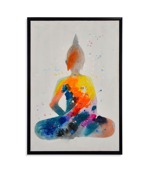 Bodhi Summar Picture Painting 60 x 90 - @home By Nilkamal, Indigo & Olive