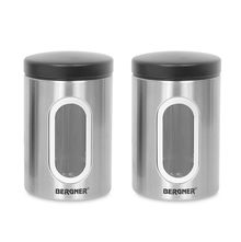 Bergner Stainless Steel Small Canister Set of 2, Silver