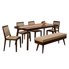 Matrix 1+ 4 Dining Bench Kit - @home By Nilkamal, Walnut