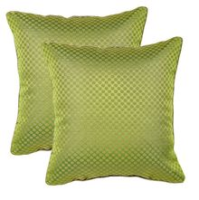 12'x12' Glory Set Of 2 Cushion Covers - @home Nilkamal,  green