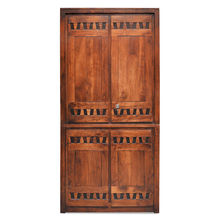 Thyme 2 Door Wardrobe - @home By Nilkamal, Honey Brown
