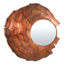 Archaic Cave Mirror - @home by Nilkamal, Copper