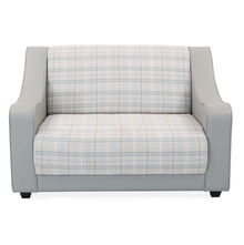 Plaid 2 Seater Sofa - @home by Nilkamal, Smoke Grey