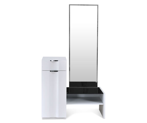 Scoop High Gloss Dresser with Mirror - @home By Nilkamal, White