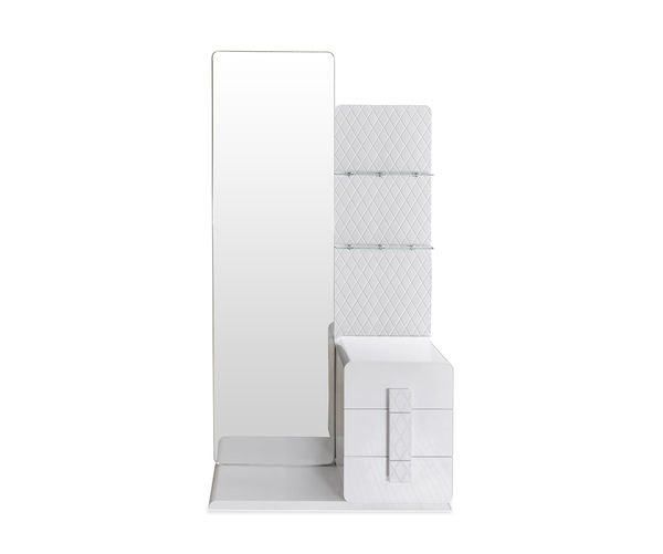 Capital Dresser With Mirror - @home By Nilkamal, Glossy White