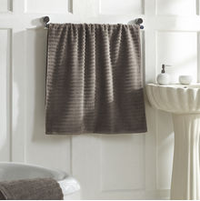 Ribbed Bath Towel - @home Nilkamal,  beige
