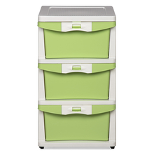 Nilkamal Chester Storage Drawer Series -23, Cream Pastel Green