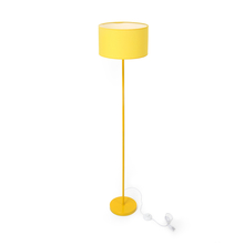 Floor Lamp with Drum shaped Shade - @home by Nilkamal, Yellow