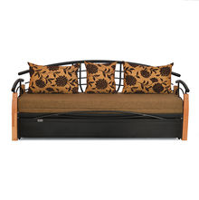 Elmo Sofa cum Bed with Storage - @home by Nilkamal, Black & Brown