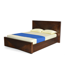 Nixon Queen Size Bed with Storage - @home by Nilkamal, Cherry