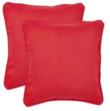 12'x12' Outblush Set of 2 Cushion Covers - @home Nilkamal,  red