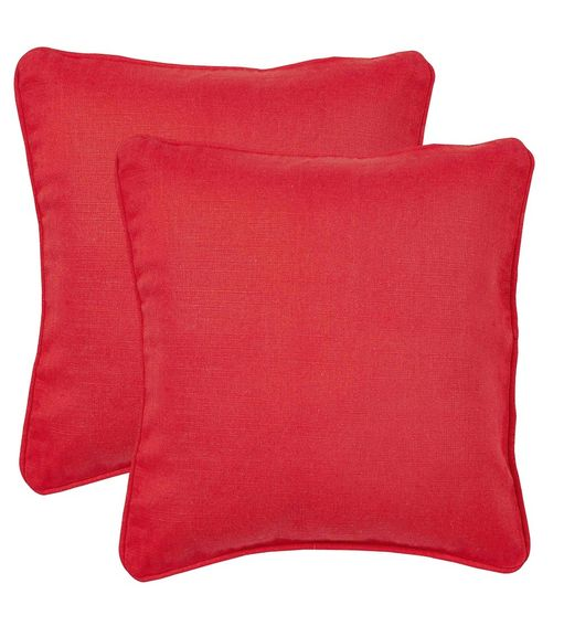 12 x12  Outblush Set of 2 Cushion Covers - @home Nilkamal,  red