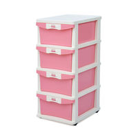 24 Chest Of Drawers Chester - @home Nilkamal,  pink