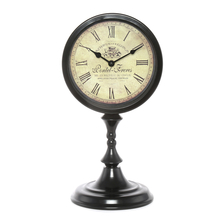 Table Clock on Stand - @home by Nilkamal, Brown