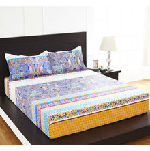 Arcade Paisley Double Bed Sheet - @home By Nilkamal, Multicolor