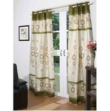 112'x213' Marvel Door Curtain Set of 2 - @home By Nilkamal, Olive