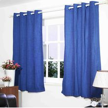 "Moshi 45"" x 60"" Window Curtain Set of 2 - @home by Nilkamal, Blue"