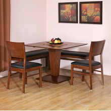 Godwin 1+ 2+ Bench Dining Kit - @home by Nilkamal, Walnut
