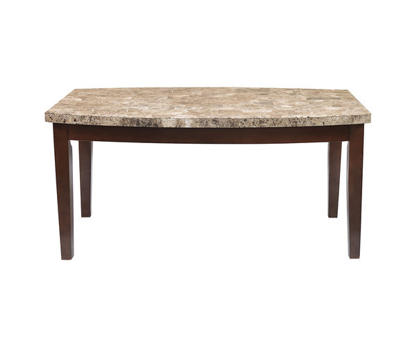 Sage 6 Seater Dining Table - @home Nilkamal, beige with walnut