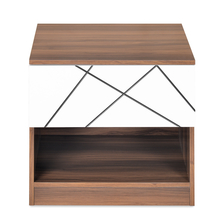 Tiffany Night Stand - @home By Nilkamal, Walnut & White