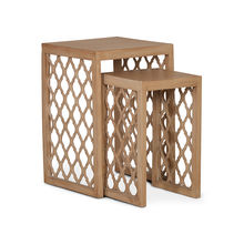 Miraya Set Of 2 Nest Table - @home by Nilkamal,  brown