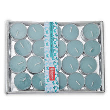 Jasmine Tea Lights Pack of 20 - @home by Nilkamal, Blue