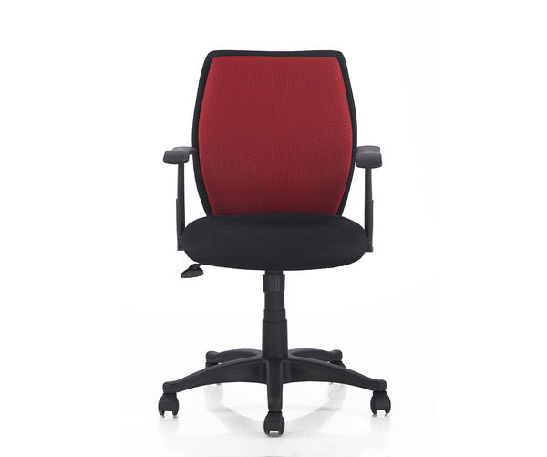 Nilkamal Blaze Middle Back Chair, Black & Red