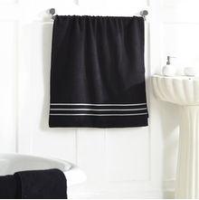 Zero twist Bath Towel - @home Nilkamal,  black