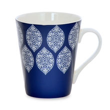 Aroha Damask Coffee Mug - @home by Nilkamal, Indigo