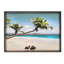 Beach Picture Painting 50 x 70 - @home By Nilkamal, Blue