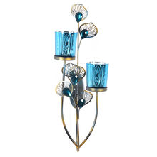 Wall Glass Votive Stand - @home by Nilkamal, Blue