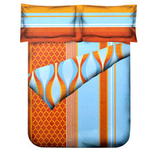 Jharokha Double Comforter - @home Nilkamal,  orange