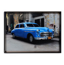 Vintage Car Picture Painting 50 x 70 - @home By Nilkamal, Blue