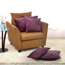 Brick Velvet Cushion Cover - @home Nilkamal,  purple