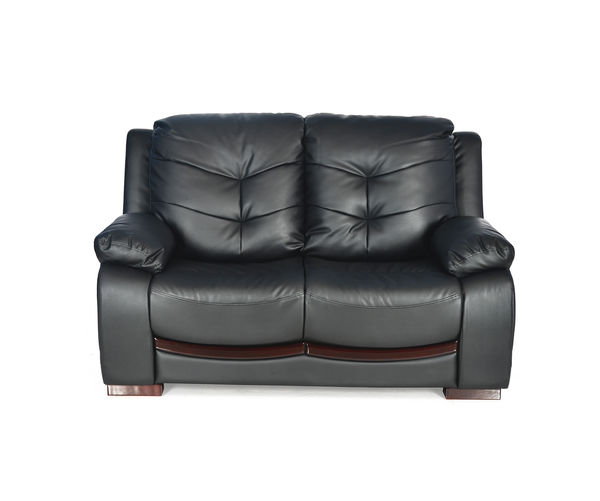 Debra 2 Seater Sofa PVC - @home By Nilkamal,  black