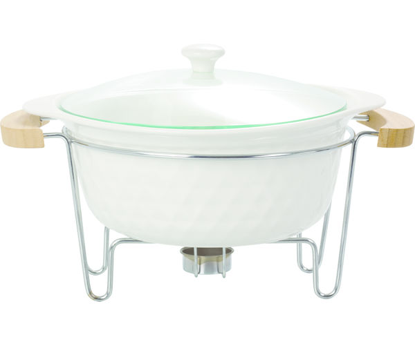 Tureen with Stand - @home Nilkamal,  white