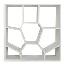 Honeycomb Wall Shelf - @home By Nilkamal, White