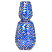 Inaayat Small Glass Vase - @home By Nilkamal, Indigo