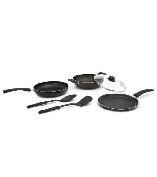 3 pieces Cookware Set - @home By Nilkamal, Red